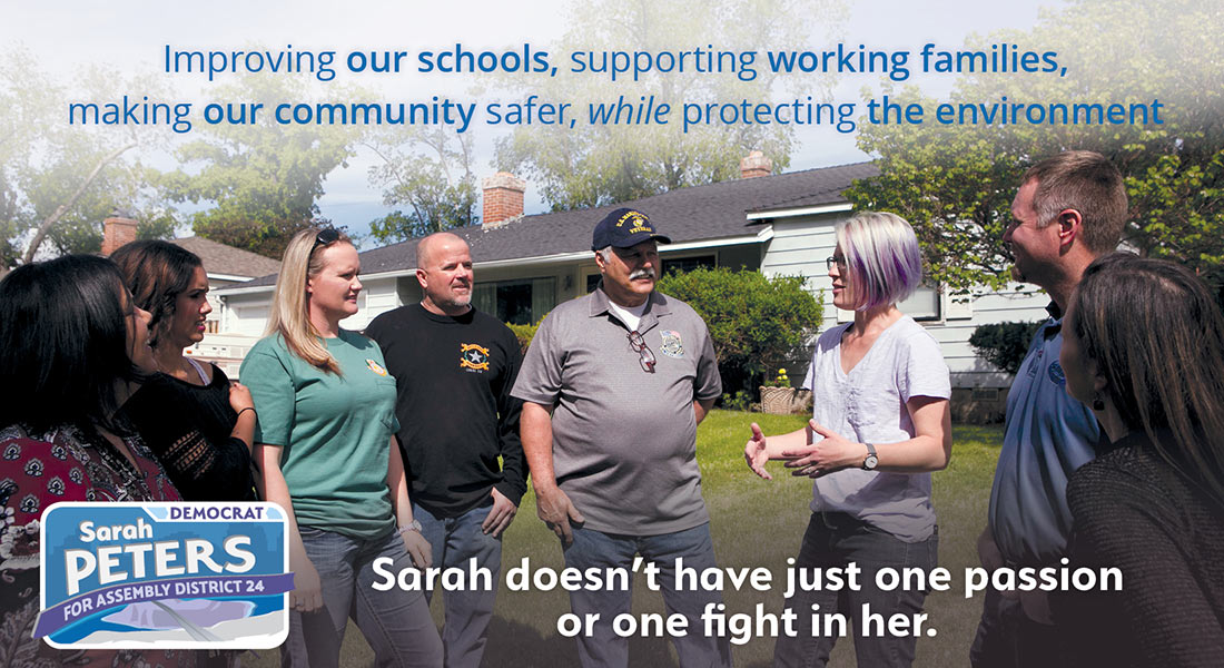 Mailer 3 front, letting voters know there is more to Sarah than the environment.